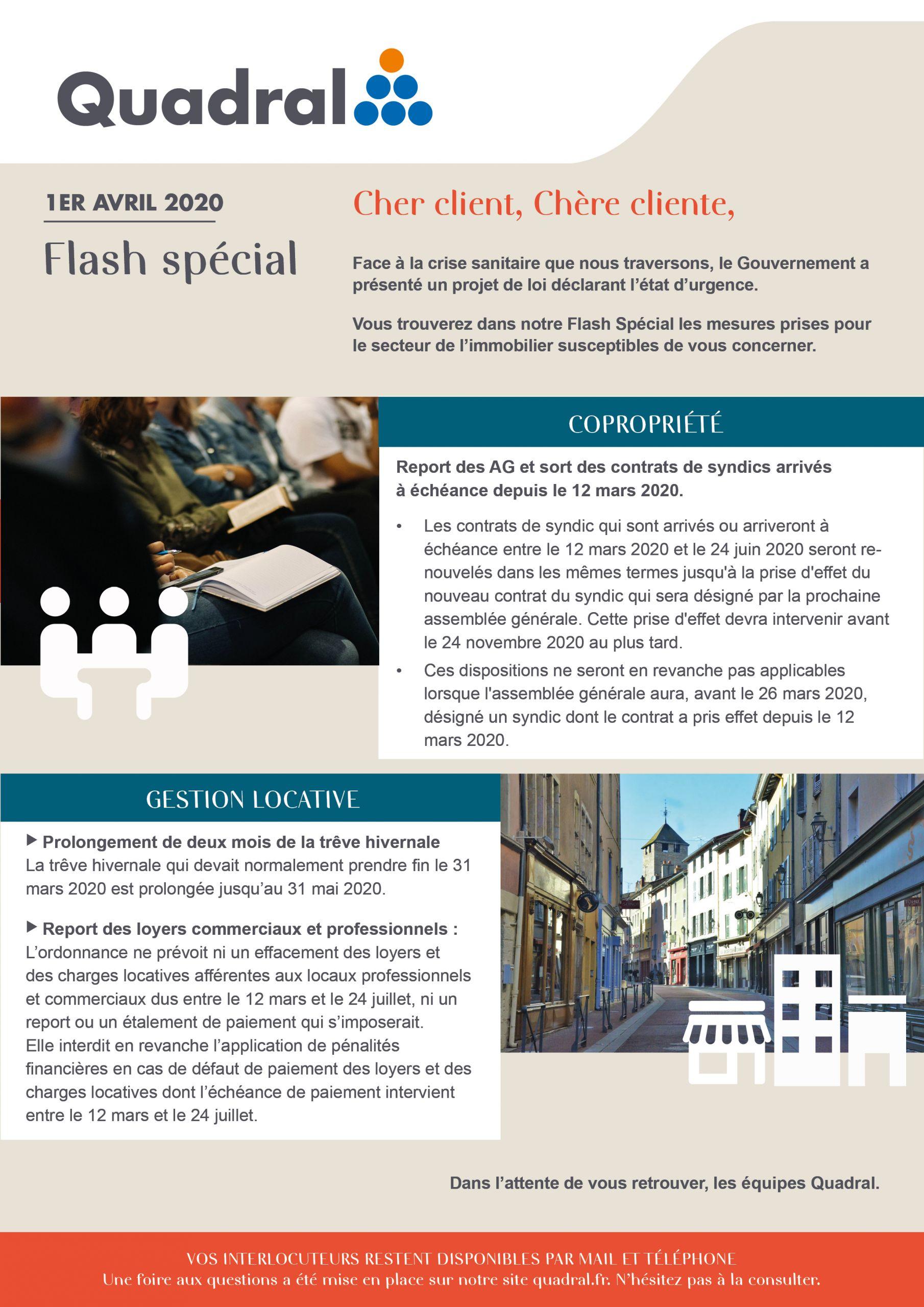 lettre informations clients copropriétés gestion locative immobilier france